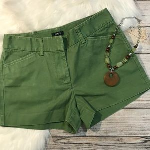 J. Crew favorite fit green shorts